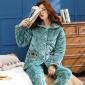 新品女士睡衣冬季法�m�q�A棉加厚保暖棉�\套�b�L袖�_衫加�q居家服