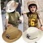 �和�草帽男童�n��遮�表演沙�┟弊优�����夏天�n版西部牛仔帽